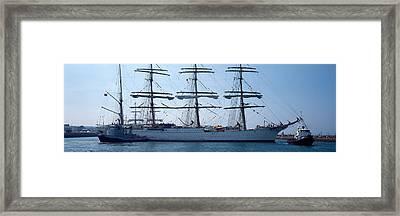 Harbor Maneuvers At A Harbor, Rosmeur Framed Print by Panoramic Images