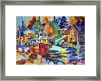 Harbor Glow Framed Print