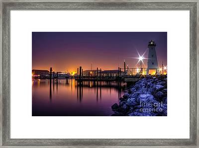 Harbor Moods Framed Print