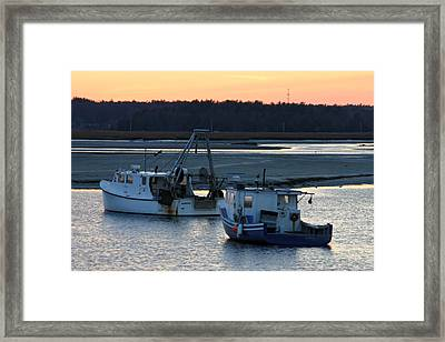 Harbor Nights Framed Print