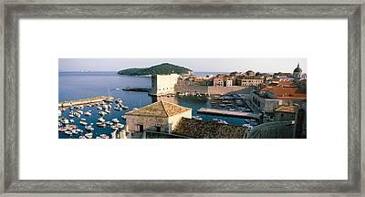Harbor Of Dubrovnik, Croatia Framed Print by Panoramic Images