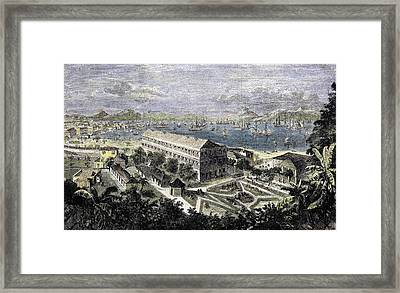 Harbor Of Hong Kong Framed Print by English School