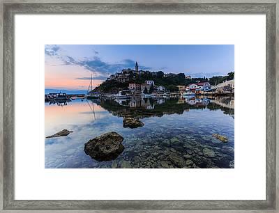 Harbor Reflection Framed Print by Davorin Mance