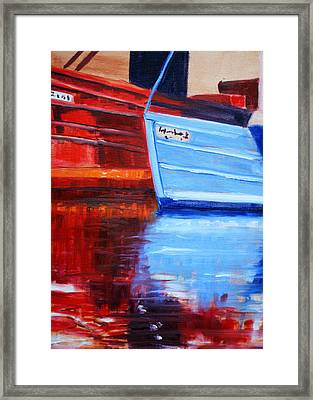 Harbor Reflection Framed Print