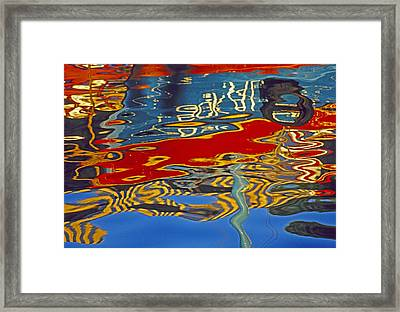 Framed Print featuring the photograph Harbor Reflections by Dennis Cox WorldViews