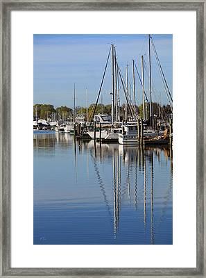 Harbor Reflections Framed Print by Karol Livote