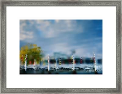 Harbor Reflections Framed Print