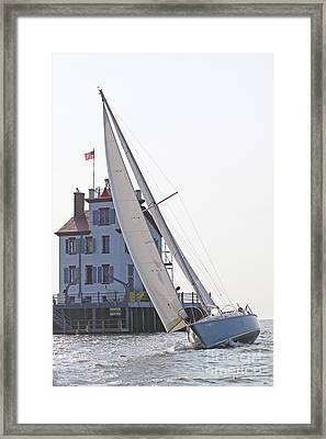 Harbor Sailing Two Framed Print
