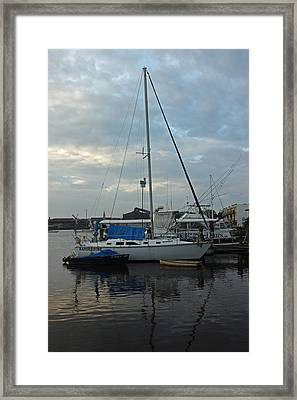 Harbor Scenic Framed Print by Suzanne Gaff