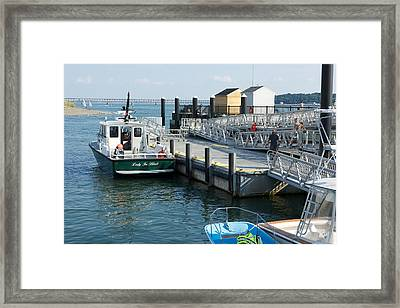 Harbor Spectacle Island Framed Print by Gail Maloney