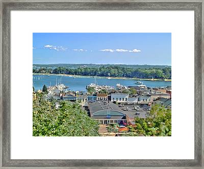 Harbor Springs Michigan Framed Print by Bill Gallagher