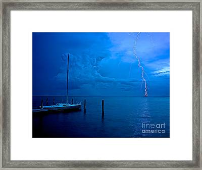 Harbor Storm Framed Print by Mark Miller