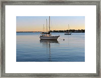 Framed Print featuring the photograph Harbor Sunrise by Anthony Baatz