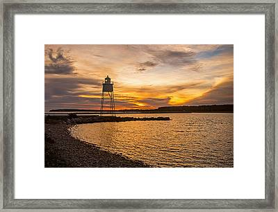 Harbor Sunrise Framed Print