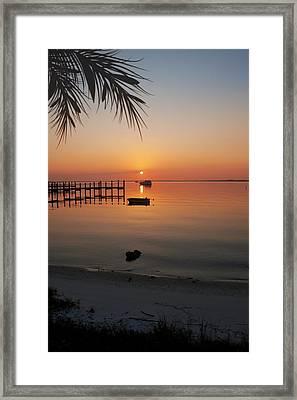 Harbor Sunrise Framed Print by Regina  Williams