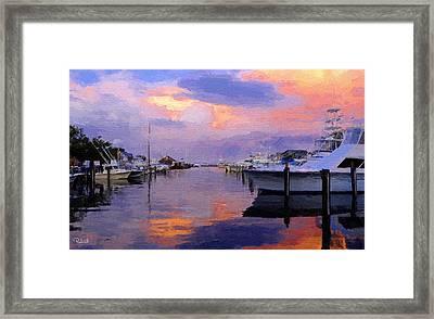 Harbor Sunset Framed Print