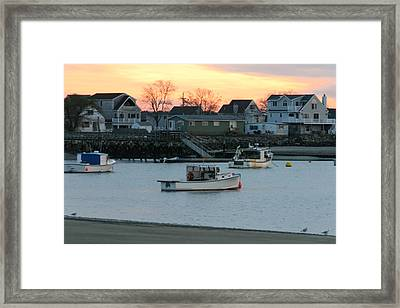 Harbor Sunset Framed Print