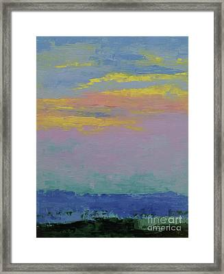 Harbor Sunset Framed Print by Gail Kent