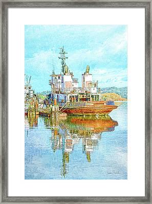 Harbor Tug Framed Print