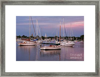 Harbor View Framed Print by Butch Lombardi
