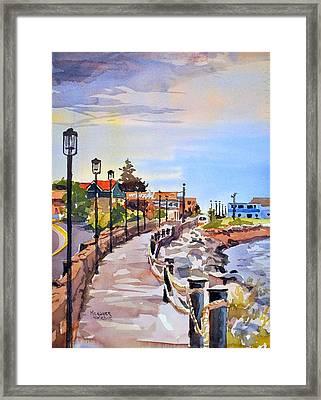 Harbor Walk Framed Print by Spencer Meagher