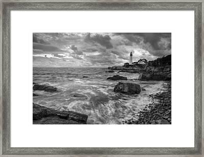Harbor Watch Framed Print by Jon Glaser