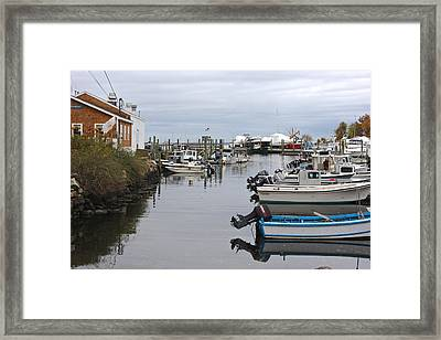 Harbor Wickford Ri Framed Print by Gail Maloney