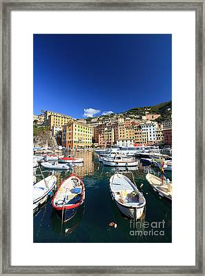 Framed Print featuring the photograph Harbor With Fishing Boats by Antonio Scarpi