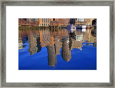 Harborside Reflections Framed Print