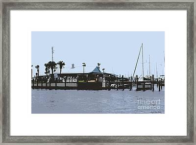 Harbortown Marina Fuel Dock Framed Print