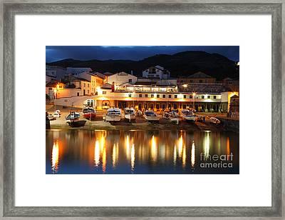 Harbour At Twilight Framed Print by Gaspar Avila