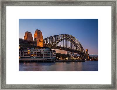 Harbour Bridge Framed Print by Dasmin Niriella