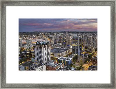 Harbour Center Lookout Vancouver Bc Framed Print by David Gn
