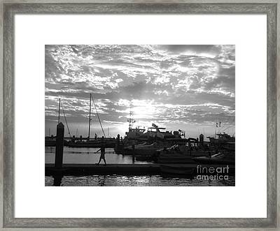 Harbour Clouds Framed Print by WaLdEmAr BoRrErO