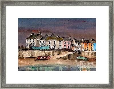 Harbour Dusk Greystones Wicklow Framed Print