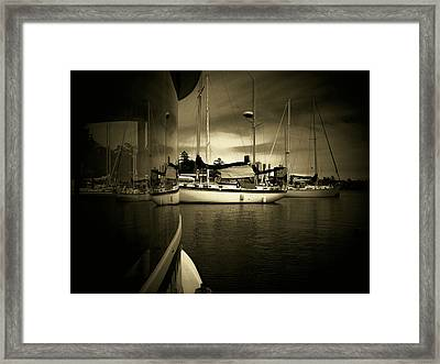 Framed Print featuring the photograph Harbour Life by Micki Findlay