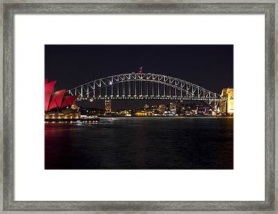 Harbour Lights Framed Print by Chasing Sooz