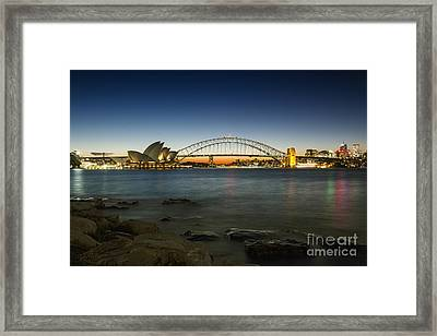 Harbour Night Framed Print by Andrew Paranavitana