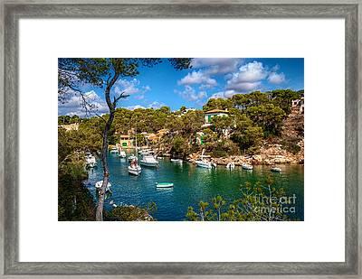 Harbour Of Cala Figuera Framed Print