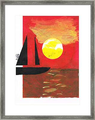 Harbour Of Your Mind Framed Print by John Deeter