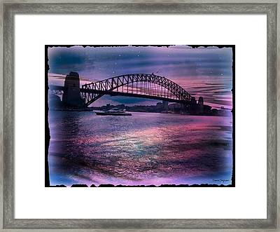 Harbour Romance Framed Print by Leanne Seymour