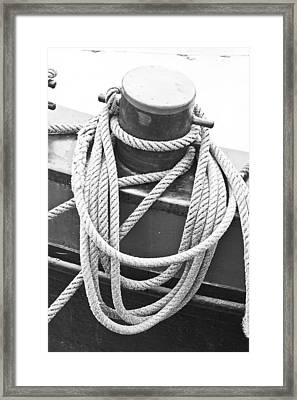 Harbour Rope Framed Print by Tom Gowanlock