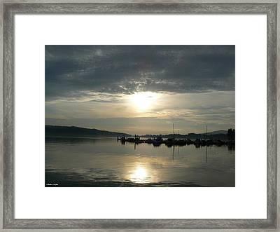 Harbour Sunset Framed Print by Barbara St Jean