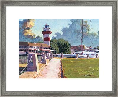Harbour Town Light Framed Print by David Randall
