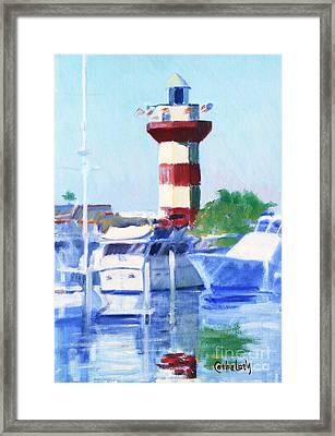 Harbour Town Lighthouse Framed Print