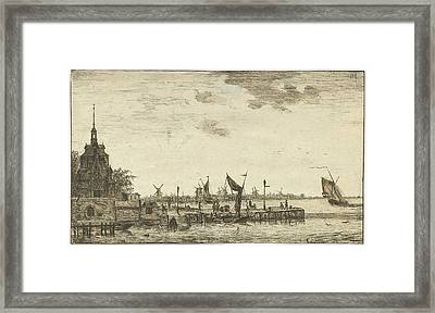 Harbour View Of The Old Hooft Rotterdam, The Netherlands Framed Print