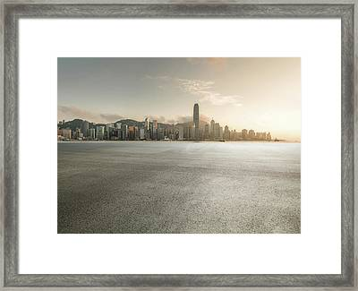 Harbour Framed Print by Yubo