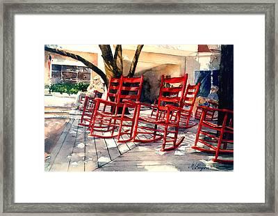 Harbourtown Rockers Framed Print