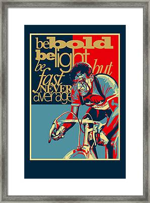 Hard As Nails Vintage Cycling Poster Framed Print by Sassan Filsoof