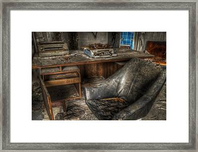 Hard Day In The Office Framed Print